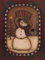 Framed Faith Snowman