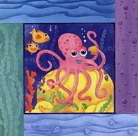 Framed Seafriends-Octopus
