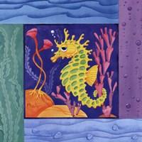 Framed Seafriends-Seahorse