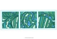 Framed Aqua Fission I