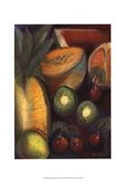 Framed Luscious Tropical Fruit I