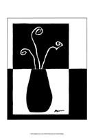Framed Minimalist Flower in Vase I