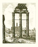 Framed Views Of Rome B&W