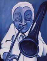 Framed Blue Jazzman III