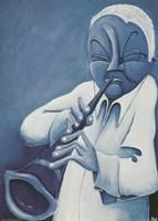 Framed Blue Jazzman IV