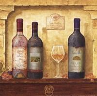 Framed Wine Bottle Cluster III