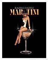 Framed Razzle Dazzle Martini