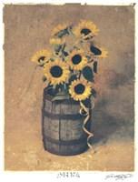 Framed Nine Sunflowers