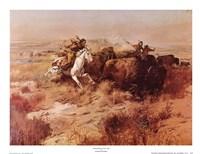 Framed Indian Buffalo Hunt
