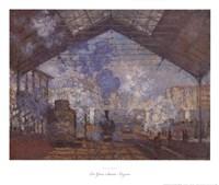 Framed La Gare Saint-Lazare