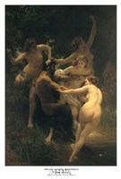 Framed Nymphs and Satyr