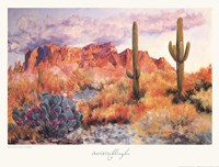 Framed Superstition Sunset in March