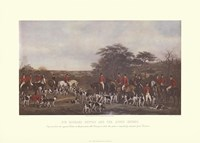 Framed Sir Richard Sutton and the Quorn Hounds