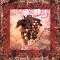 Framed Tuscany Grapes