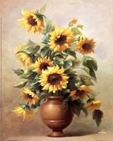 Framed Sunflowers In Bronze II