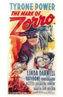 Framed Mark of Zorro Tyrone Power