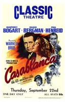 Framed Casablanca Classic Theater