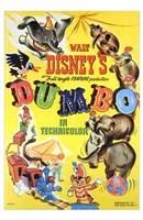 Framed Dumbo Cartoon