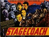 Framed Stagecoach 2 Women 7 Strange Men