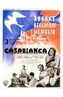 Framed Casablanca Blue Bird