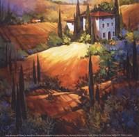 Framed Morning Light Tuscany