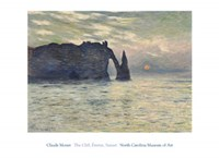 Framed Cliff, Etretat, Sunset, 1883
