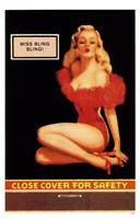 Framed Miss Bling Bling Pin-Up