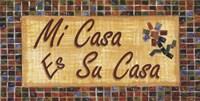 Framed Mi Casa Es Su Casa