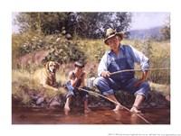 Framed Fishin' with Grandpa