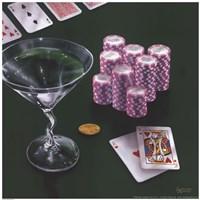 Framed Poker Chips Big Slick