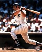 Framed Thurman Munson - batting