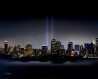 Framed Towers of Light (NYC) - September 11 Tribute