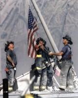 Framed New York Firefighters / Ground Zero
