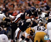 Framed Walter Payton - Action, airbound