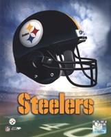 Framed Pittsburgh Steelers Helmet Logo