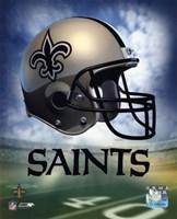 Framed New Orleans Saints Helmet Logo