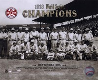 Framed 1918 Red Sox World Series Champions