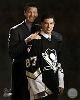 Framed 2005 - Sidney Crosby / Mario Lemieux Draft Day