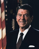 Framed Official Portrait of President Ronald Reagan (#9)