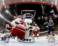 Framed Ryan Smyth - 2006 Stanley Cup Finals / Game 6 Celebrates Goal (#31)