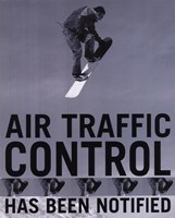 Framed Air Traffic Control (postercard)