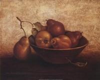 Framed Pears In Bowl
