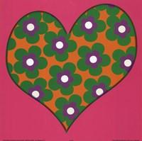 Framed Green Flowered Heart