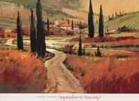 Framed September In Tuscany I