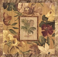 Framed Fabric Palm II