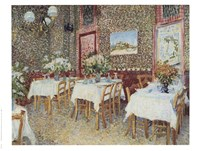 Framed Interior of a Restaurant, c.1888