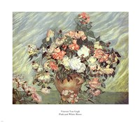 Framed Pink and White Roses