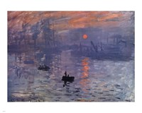 Framed Impression, Sunrise, c.1872 (blue)