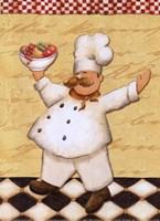 Framed Le Chef et les Fruits - mini
