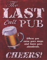 Framed Last Call Pub